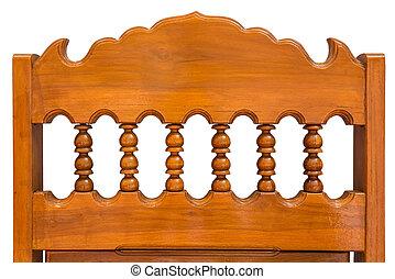 Chair back wood carving - Chair back wood carving is thai...
