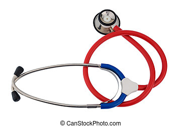 stethoscope against white background - the stethoscope a...