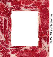 Meat Border - Meat border carnivore food concept as a red...