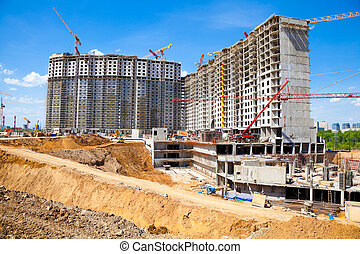 Construction of residential buildin
