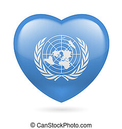 Heart icon of United Nations - I love United Nations. Heart...