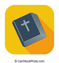 Bible single icon - Bible single flat color icon Vector...