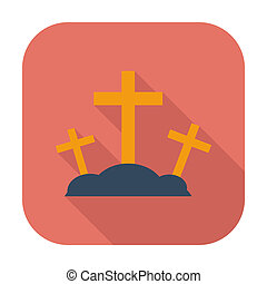 Calvary single icon - Calvary single flat color icon Vector...