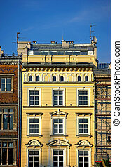Old city house in Krakow, Polan