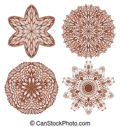 Set of four ethnic ornaments