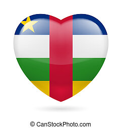 Heart icon of Central African Republic - I love Central...