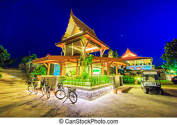 Thailand pavilion in the evening
