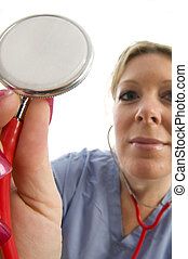 nurse doctor with stethoscope