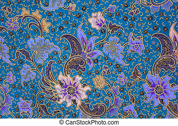 batik sarong pattern background in Thailand, traditional...