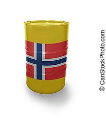 Barrel with Norwegian flag