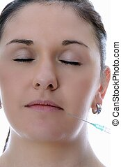 botox injection - woman get a botox injection