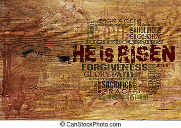 quot;He Is Risenquot; Religious Background - Religious Words...