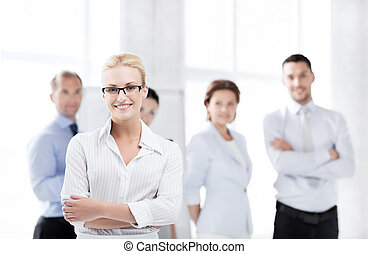 businesswoman in office - business concept - picture of...