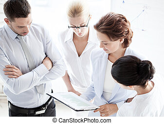 business team having discussion in office - business concept...