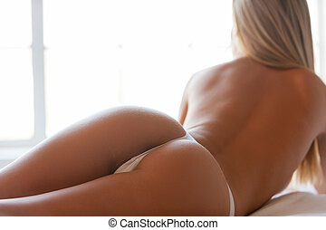 Beautiful buttocks Close-up of perfect buttocks of the...