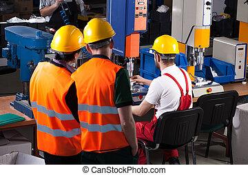 trabajadores, fábrica