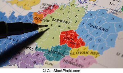 World Map - Close up of a detailed world map