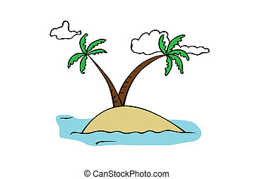 island - small tropical island illustration
