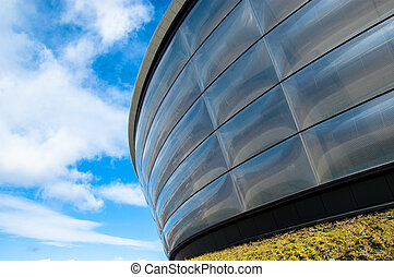 Particular of the Hydro concert arena. Glasgow, Scotland,...