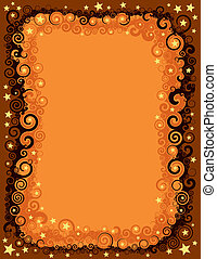 Seamless Fall Halloween Border