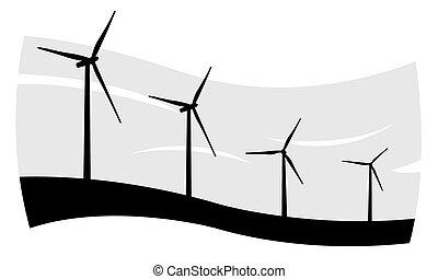 turbines - wind turbines illustration