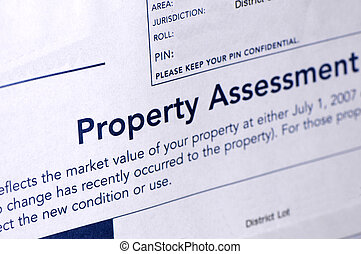 Assessment - Property assessment on paper