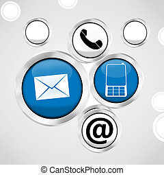 contact us icons button fresh background design - contact us