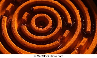 Heating Element - Close up of a heating coil element