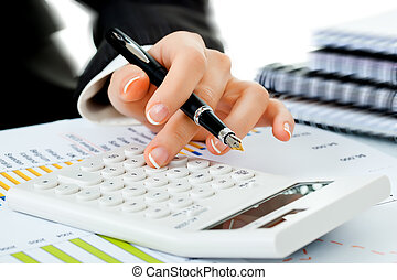 Business accounting - Working environment in the office