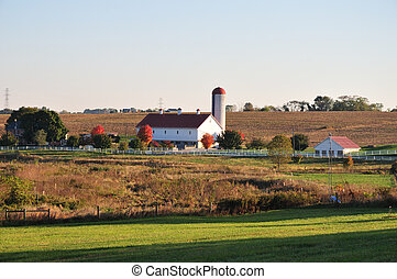 Scenic Lancaster County Farm - view of a beautiful...