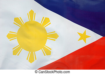 Philippine flag - Background of a flowing Philippine flag