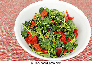 Tasty Watercress Salad - Delicious simple recipe of fresh...