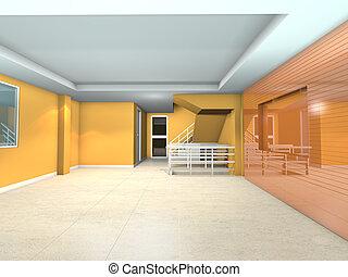 orange living interior design