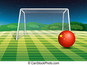 A ball with the flag of China