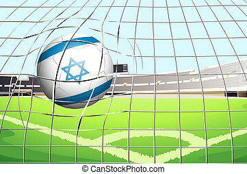 A ball with the flag of Israel
