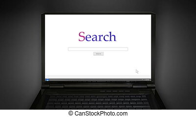 notebook simple search screen