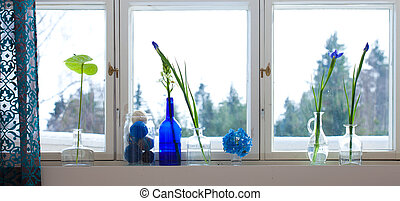 """spring windowsill with """"knitting preserve"""""""