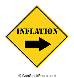 Inflation that way Sign