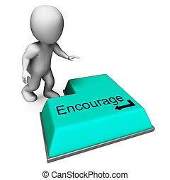 Encourage Key Shows Inspiring Motivation And Reassurance -...