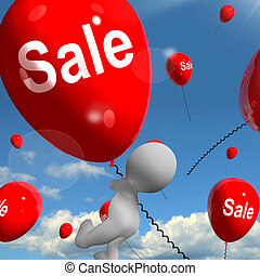 Sale Balloons Shows Offers in Selling and Discounts - Sale...