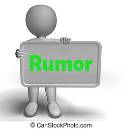 Rumor Sign Means Spreading False Information And Gossip -...