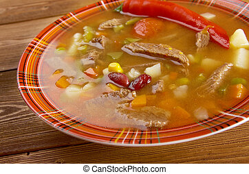 spicy Mexican soup - A thick and hearty spicy Mexican soup...