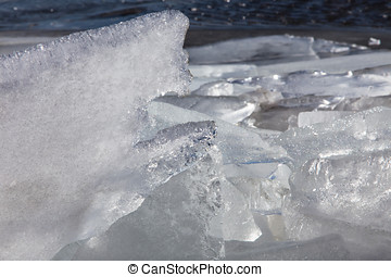 Sea ice in the spring