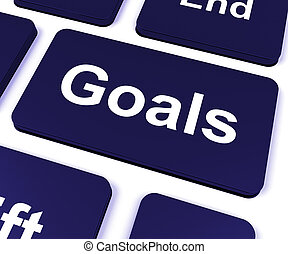 Goals Key Shows Aims Objectives Or Aspirations
