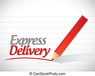 express delivery written message illustration