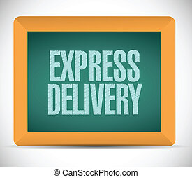 express delivery message on a board.
