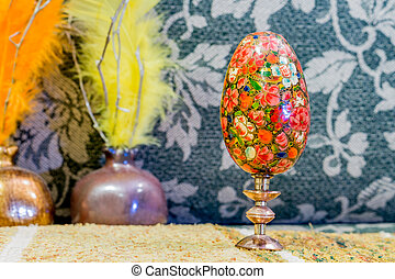 easter egg on candlestick