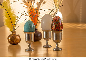 Ester eggs and feathers