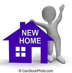 New Home House Shows Buying Property And Moving In - New...
