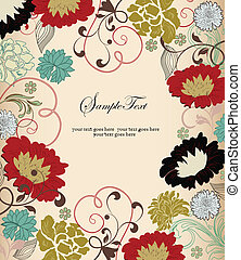 Invitation Card - invitation card with floral background and...